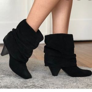 Steve Madden Carlson Black Leather/Suede Bootie